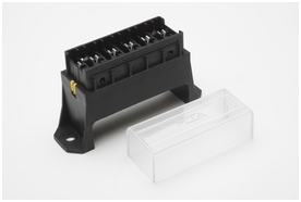Fuse Block, 6 way, w/ cover