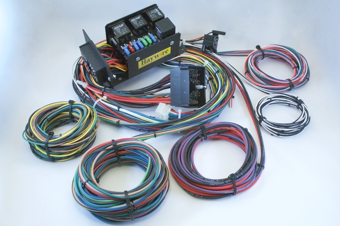 haywire cobra kit 7 fused wiring system rh haywireinc com haywire wiring harness for street rod Alternator Wiring Diagram